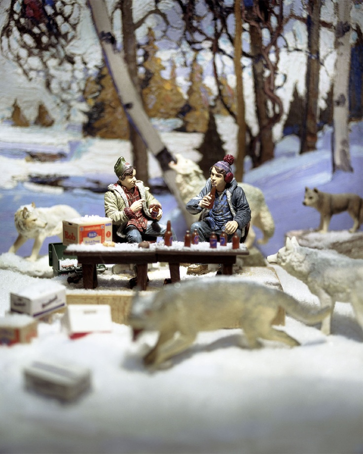 Diana Thorneycroft 'Early Snow with Bob and Doug' chromogenic print, limited edition of 5