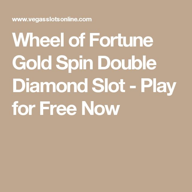Wheel of Fortune Double Diamond True 3D Slot - Play it Now for Free