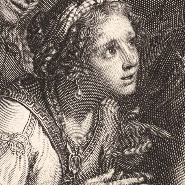 Queens of Persia at the Feet of Alexander (detail), Gérard Edelink after Charles Le Brun, ca. 1675 Gerard Edenlinck  etching and engraving