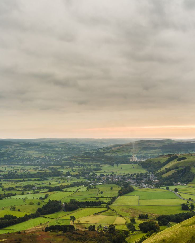 Overlooking Castleton, Derbyshire, England by Russell J-D