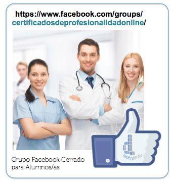 Grupo privado de Facebook para alumnos de nuestros certificados de profesionalidad sociosanitarios