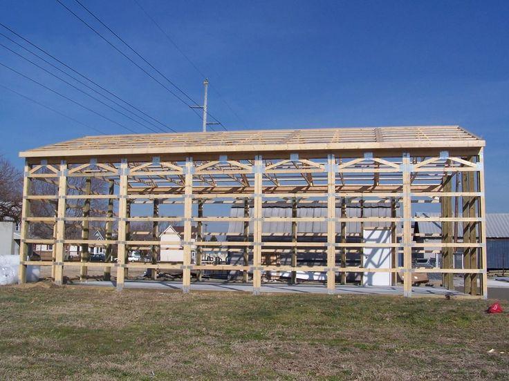 30' x50' x 12' Prefabricated prefab pole building kit Includes foundations