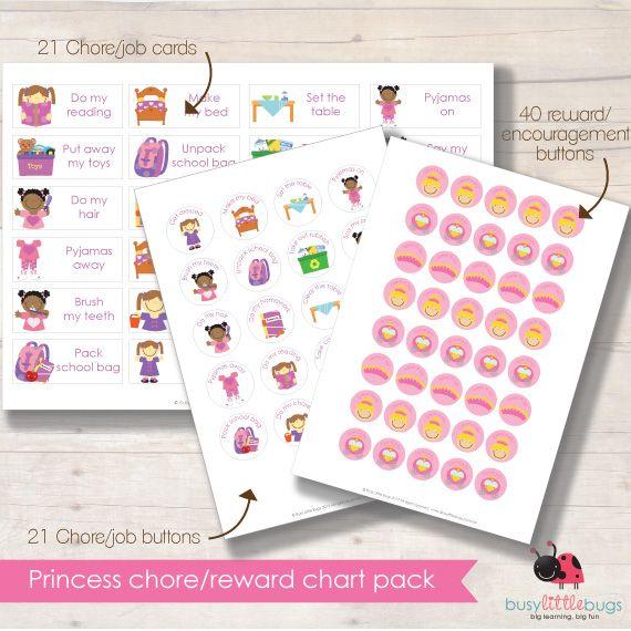 Princess reward chore chart 4