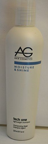 AG Hair Cosmetics Moisture  Shine Tech One Lightweight Shampoo 8 oz *** To view further for this item, visit the image link.(This is an Amazon affiliate link and I receive a commission for the sales)