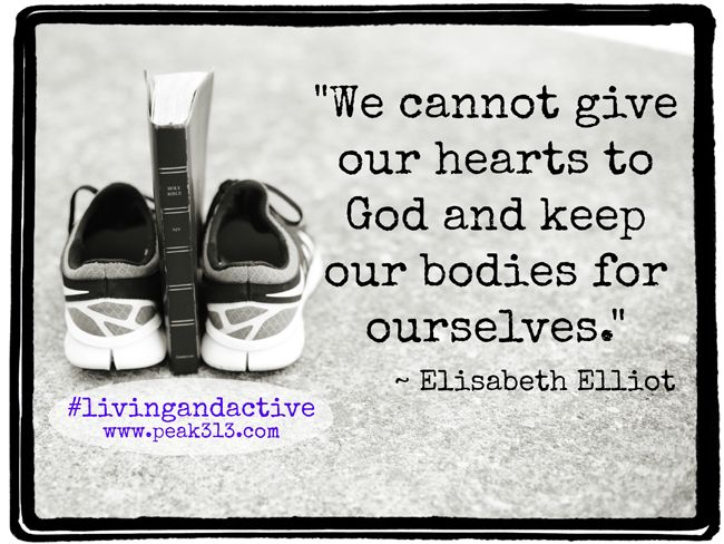 very inspirational with a little slap in the face to wake a person up.....we cannot give our hearts to God and keep our bodies for ourselves.