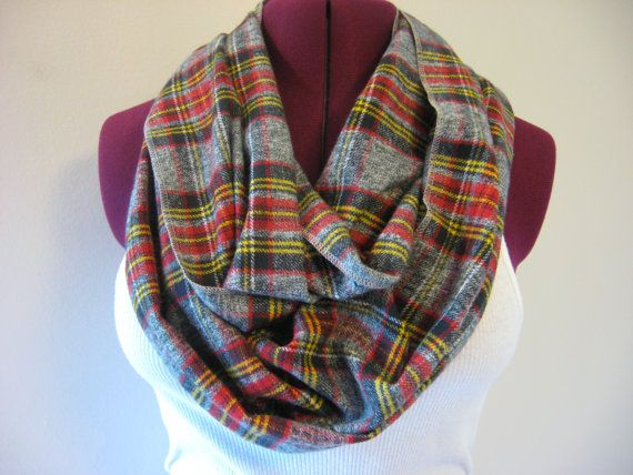 Flannel Infinity Scarf  Classic Scottish Plaid  by OohBabyInfinity, $18.99