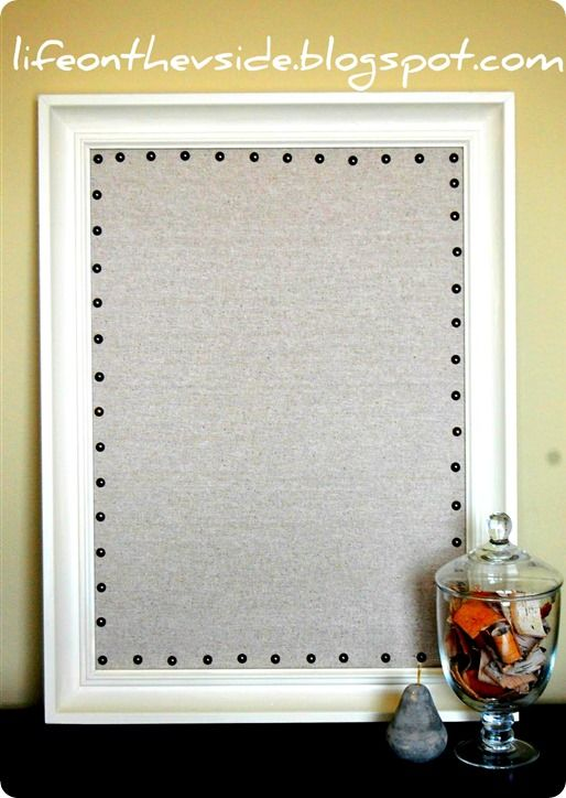 25 best ideas about decorate corkboard on pinterest diy for Linen cork board