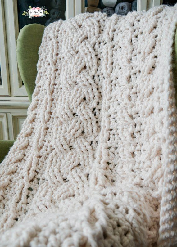 Heirloom Cabled Throw Crochet PATTERN Beginner Friendly pdf instant digital down…