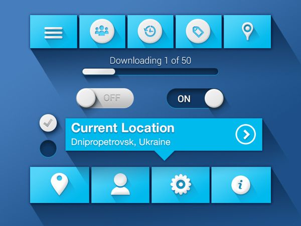 UI Controls by Sergey Valiukh, via Behance