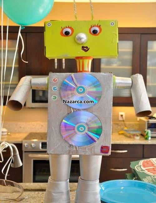 karton-ve-rulolardan-robot