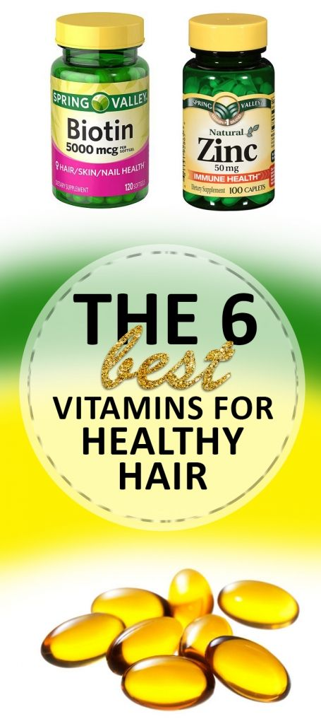 The 6 Best Vitamins for Healthy Hair