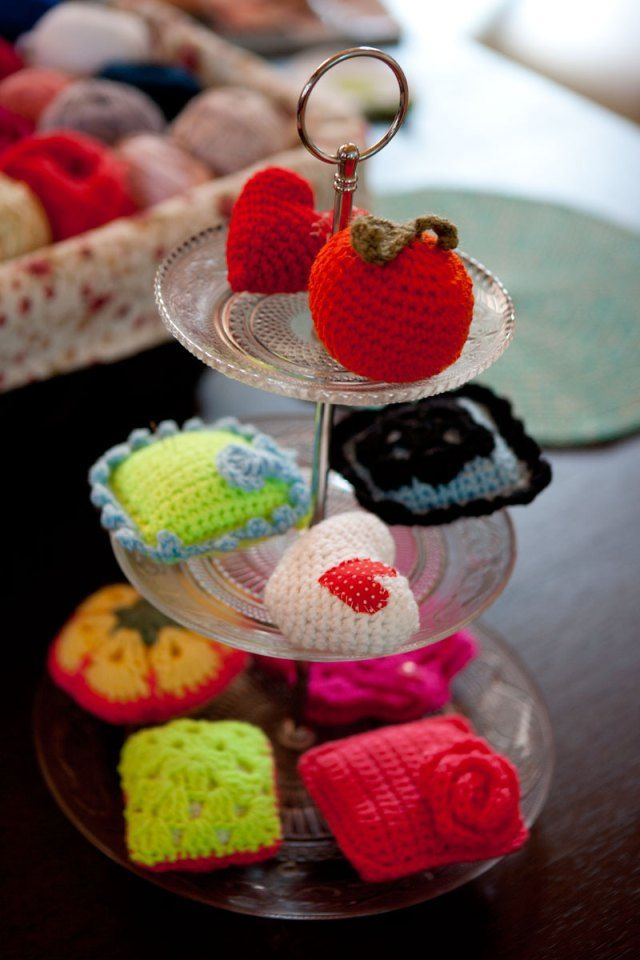 THEIA Lab's crochet delicacies.