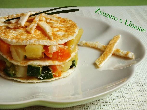omelette di albumi e verdure