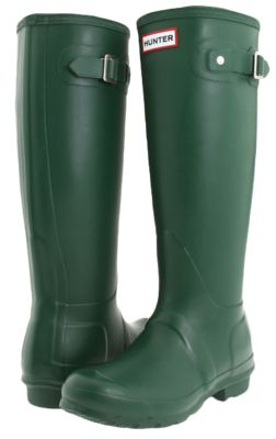 Original Hunter Boots. I love my wellies, and although some of the new colours are really pretty, I am a traditionalist and only wear the original green :)