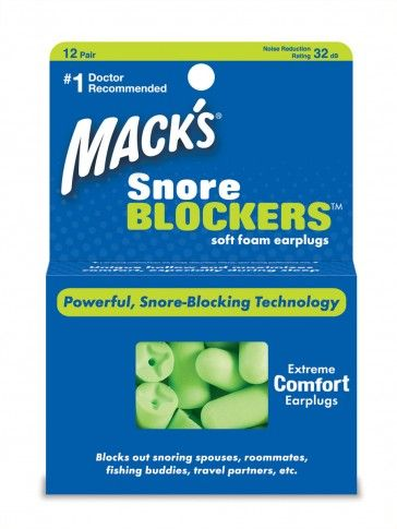 Time for some sleep without that foghorn next to you? Mack's Snore Blockers are your ticket! Available now at www.sleepmajor.com