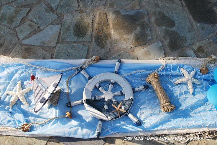 Στολισμός βάπτισης με ναυτικό θέμα,Stolismos Vaptisis,στολισμοί βάπτισης προσφορές,Διακόσμηση βάπτισης Vintage,baptism decoration