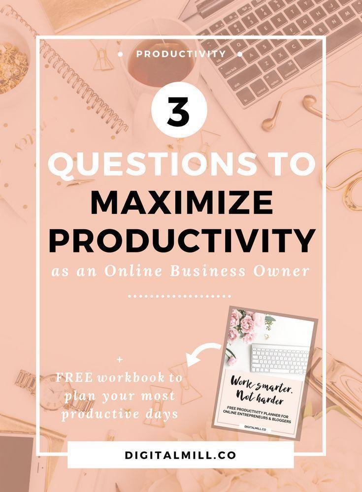 Find out the three questions to help you overcome procrastination, set the right goals, and maximize productivity for more intentional and effective work days as an online business owner. Read now or save for later >>