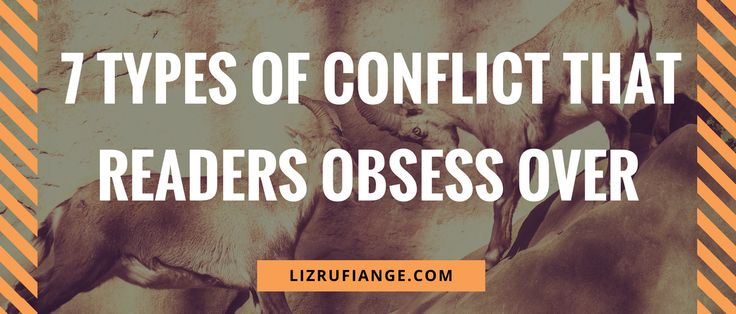Click through and learn to write a book readers can't put down. Here's the different types of conflict found in books readers obsess over.