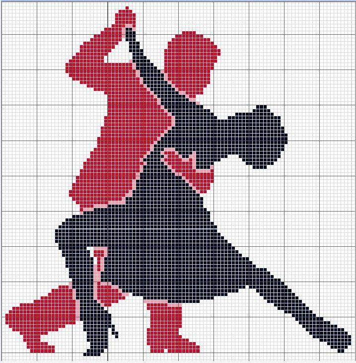 Tango ! grille point de croix  cross stitch pattern