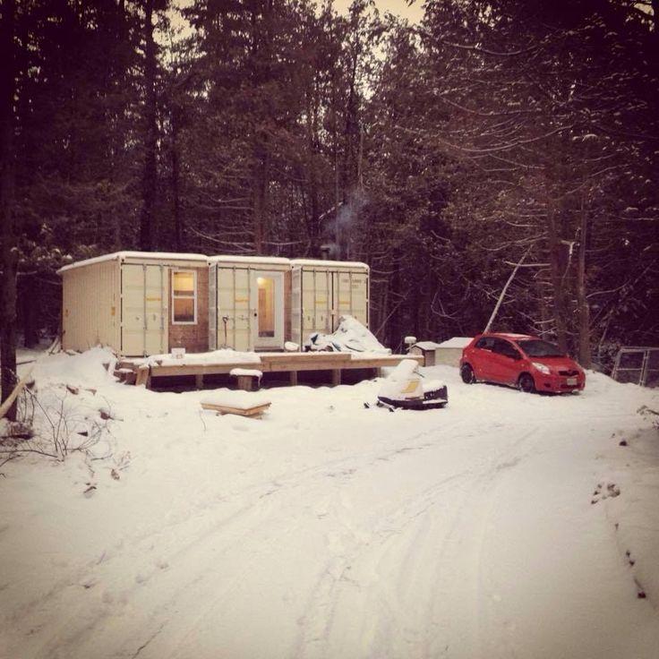 Les 25 meilleures id es concernant cabane en container d for Conteneur maison bois