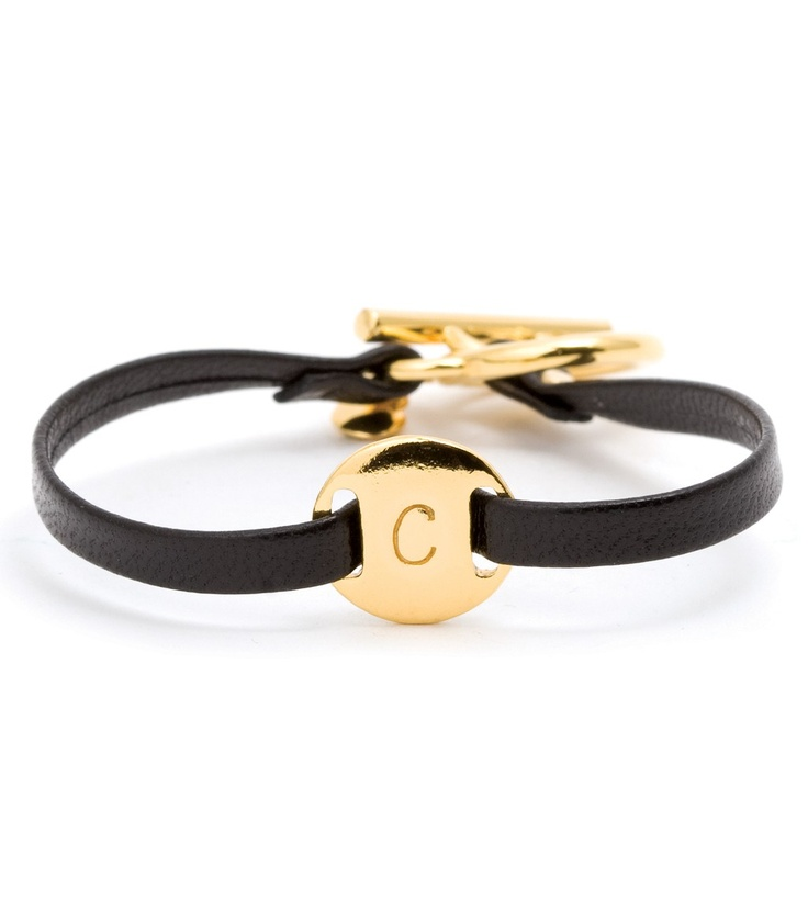 Alphabet Leather Bracelet