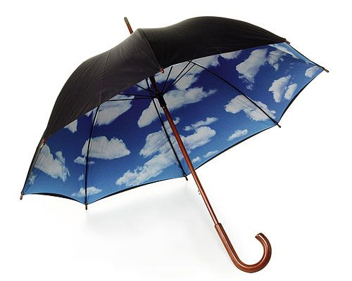 Funbrella. I could walk around with my head in the clouds all day. #blueskydreaming #rainraingoaway