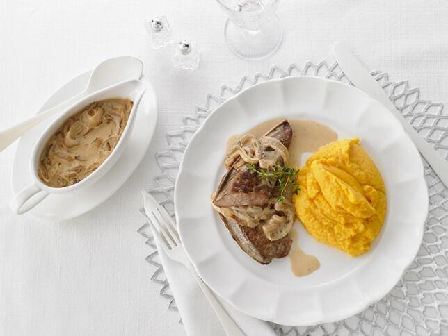 Foie de veau, sauce crémeuse à l'oignon doux | Recettes d'ici