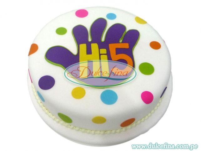 hi 5 cake - Google Search