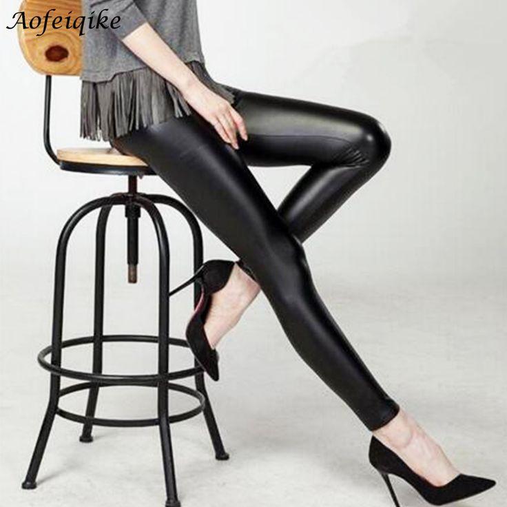 黒人女性レギンスフェイクレザー高品質スリムレギンスプラスサイズ高弾性セクシーなパンツレギンスフリーサイズc #