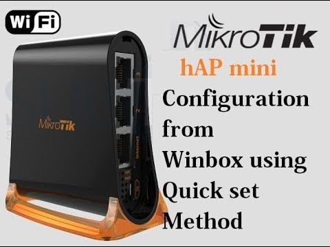 MikroTik hAP mini wifi router configuration using quick setup