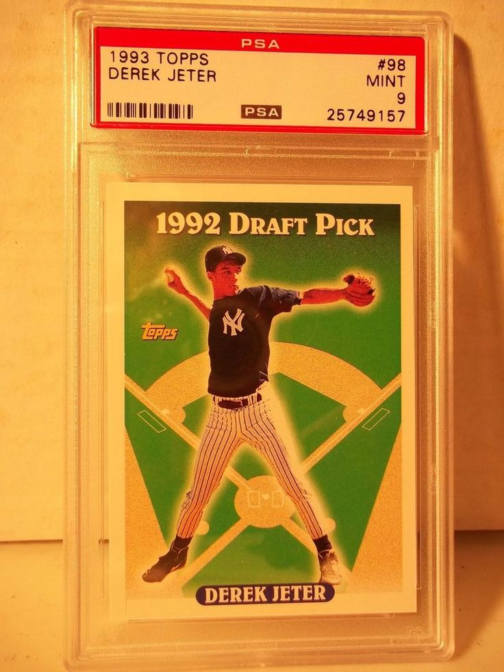 1993 Topps Derek Jeter RC PSA Mint 9 Baseball Rookie Card #98 MLB Collectible #NewYorkYankees