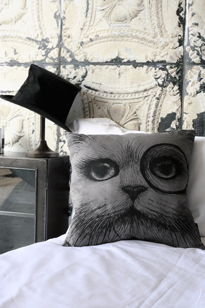 Rory Dobner Cat with Monocle Cuddly Cushion!