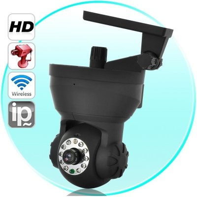 Wireless HD IP Surveillance Camera (Angle Control + H.264 + 10 IR + Smartphone Support) From China
