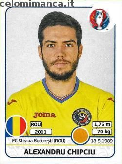 UEFA EURO 2016™ Official Sticker Album: Fronte Figurina n. 61 Alexandru Chipciu
