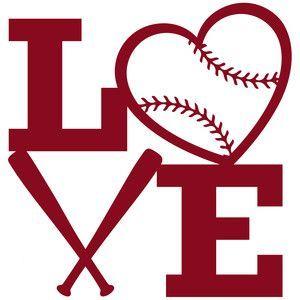 Baseball and softball lovers unite silhouette design for I love design
