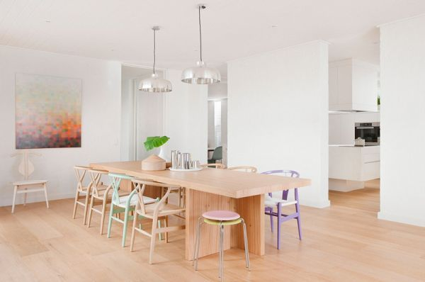 pastel color furniture | Mid century modern home by Hecker Guthrie