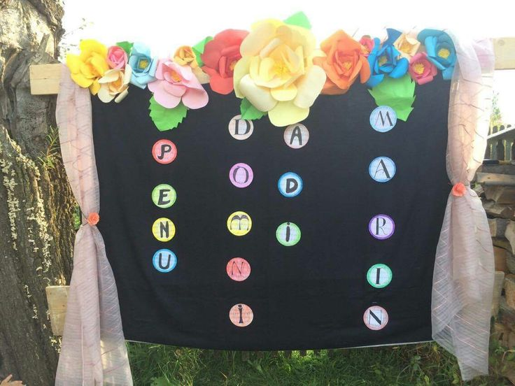 Birthday decoration idea Paper flowers backdrop Giant flowers