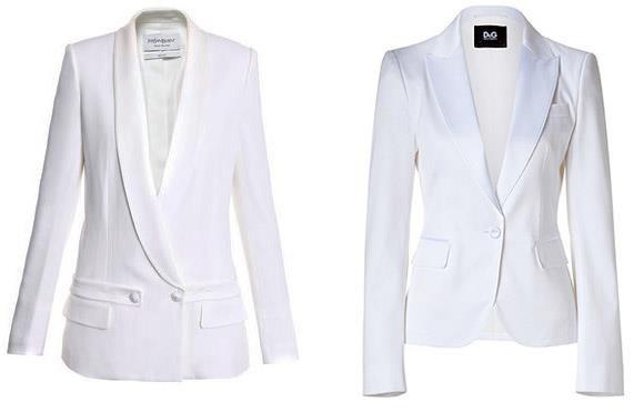 Белые женские пиджаки