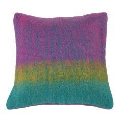 Wool blend cushion