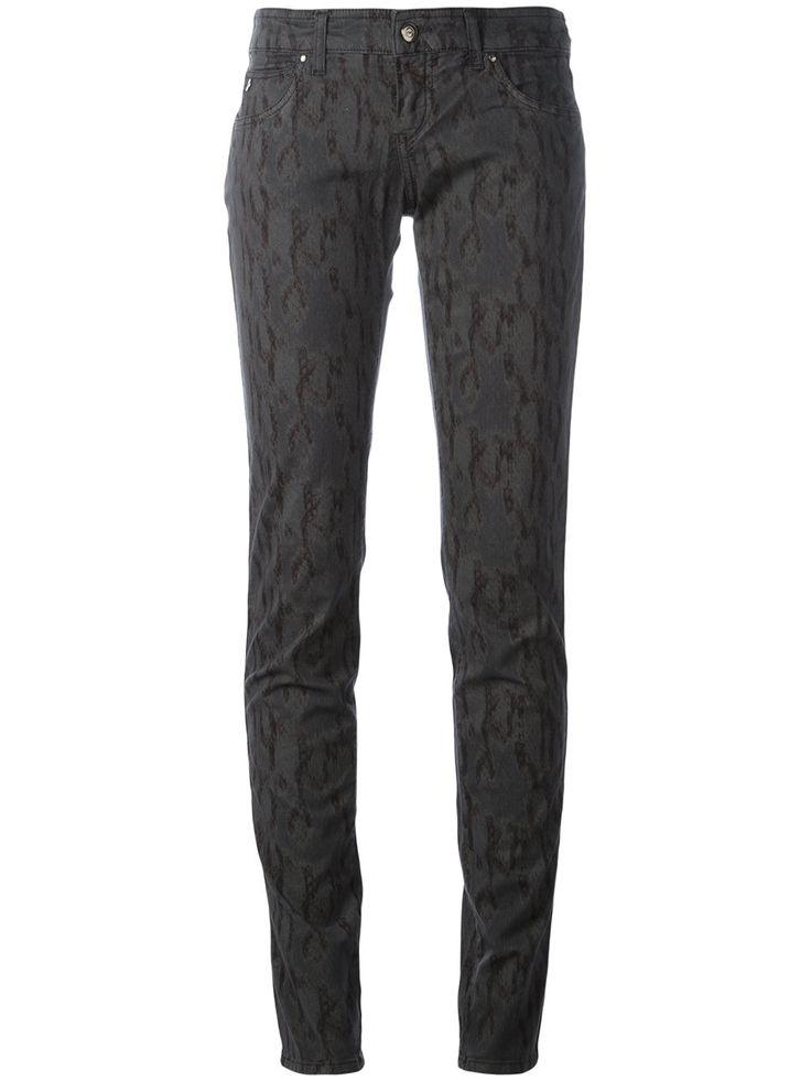 Armani Jeans джинсы скинни со змеиным принтом
