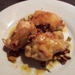Involtini di pollo con pancetta noci e robiola