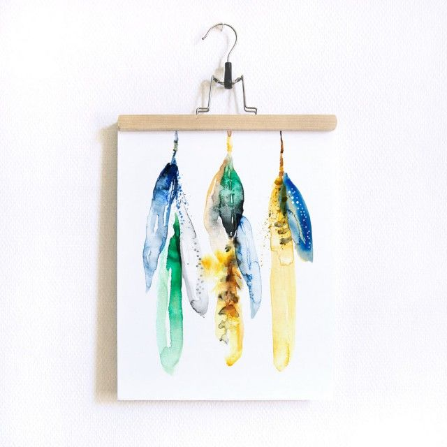 LIGHT AS A FEATHER - ART PRINT (40X30CM) by Scandinavian Matilda Svensson - Nordic Design Collective