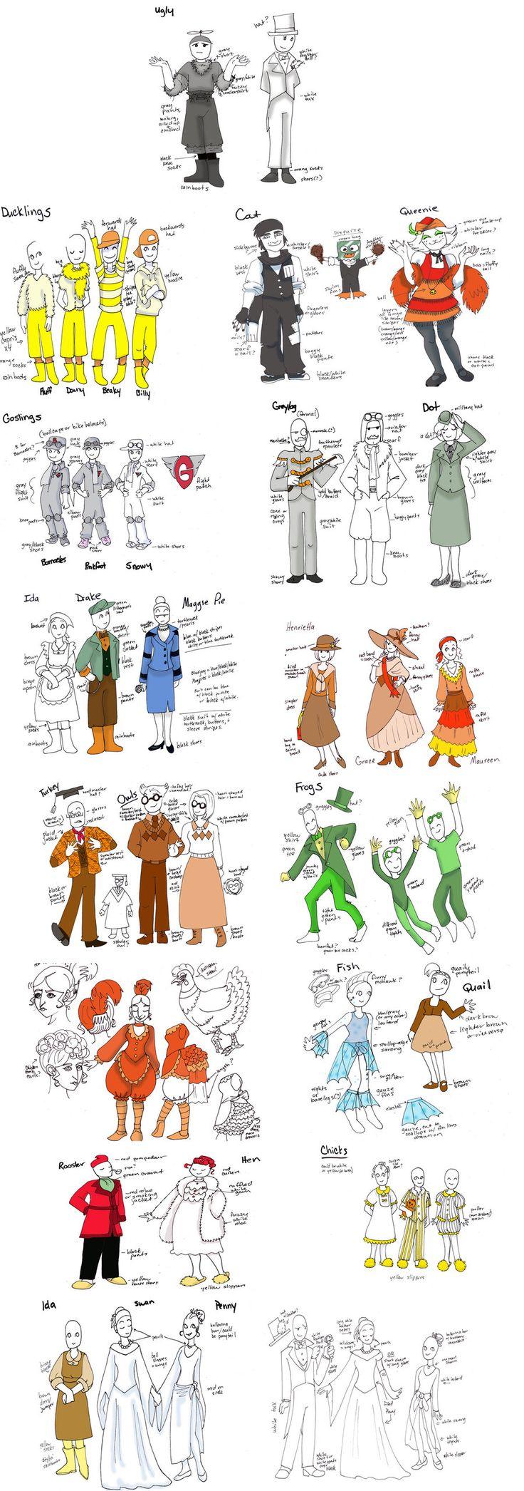 costumes for Honk! by hermitchild.deviantart.com on @DeviantArt