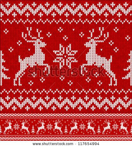 Cristmas ornament: Sweater with deers by art_of_sun, via ShutterStock