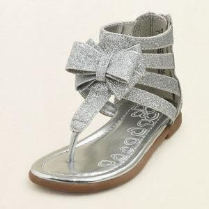 Totally Glam Spring/Summer Sandals for your Baby Toddler Girl! Cute!!! Glitter Gladiator Sandals with a Bow!