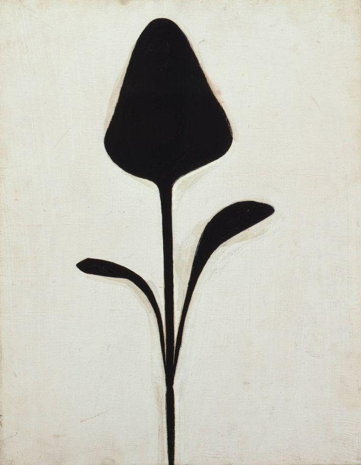 """Ellsworth Kelly, """"Plant II"""" von 1949, Öl auf Holz, im Haus der Kunst"""