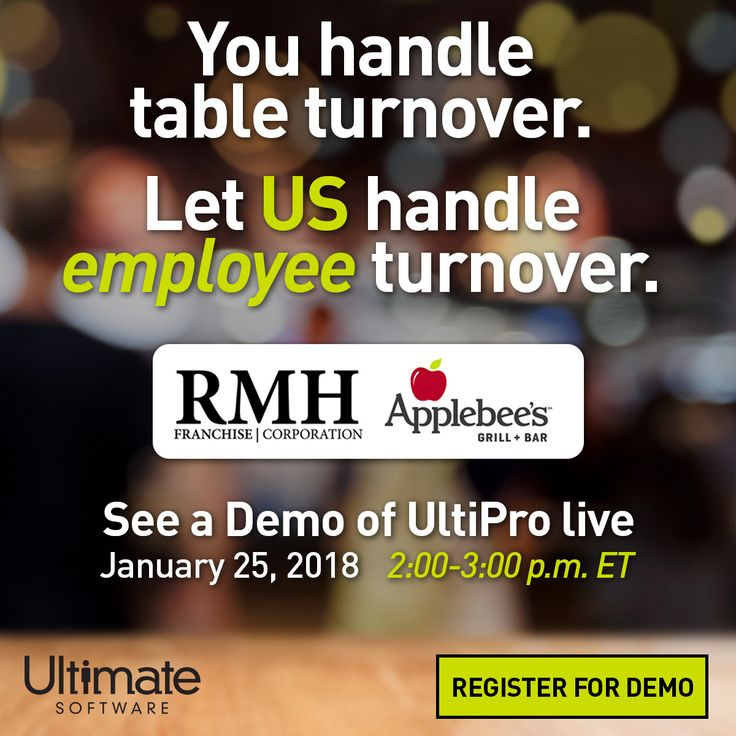 "All industries are not created equally. They each face their own unique challenges—especially the food services industry. Join us live and get a ""taste"" of UltiPro: ulti.pro/2lPhmRO"