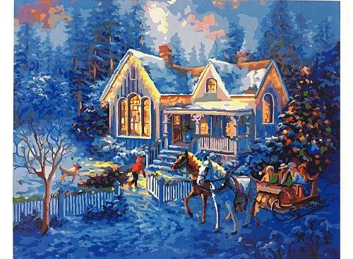 Раскраска по номерам «Добро пожаловать домой» Ники Боэм Картины по номерам, paint by numbers, купить картину по номерам, новый сюжет, дизайн
