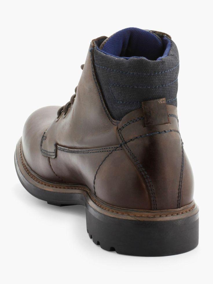 Découvrez les caractéristiques du produit Desert Boots En Cuir Arrière Textile, sur le site de La Halle, marque de vêtements et chaussures pour femmes et hommes.