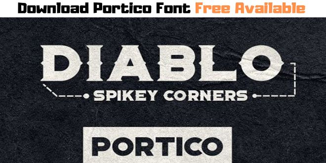Download Download Portico Font Free Available | Free font, Font ...